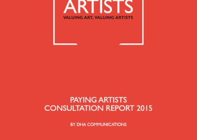 Paying Artists Consultation Report 2015