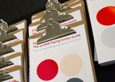 Paying Artists campaign: a-n and AIR's Exhibition Payment Guide launched